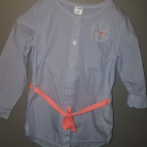Carter's girls size 4 striped button down top